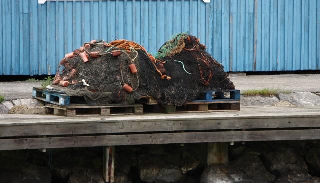 Fiskenät vid Torö